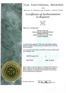 The National Board of Boiler & Pressure Vessels Inspectors accreditation
